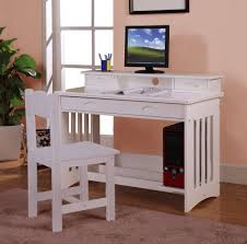 white wooden study desks for teenagers with drawers and book shelf