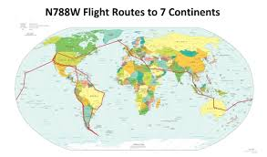 United Route Map Flight Route Map Phywave Publishing