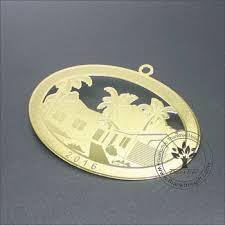 2017 new custom logo engraved metal ornament view metal