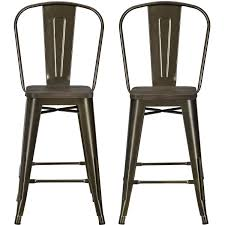 Industrial Counter Stools Dorel Home Products Luxor 24