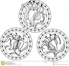 nouveau style ornament stock vector image of lace 44438208