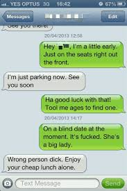 Blind Date Funny Mate Went On A Blind Date Texts