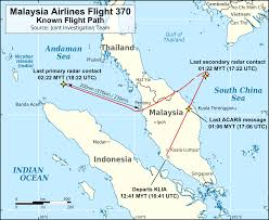 Flight Path Map File Mh370 Flight Path With English Labels Png Wikimedia Commons