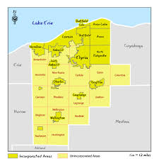 Ohio County Map With Roads by Ohio Dnr Lake Erie Access Guide Lorain County