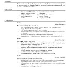 nanny resume objective sample download nanny resume examples nanny
