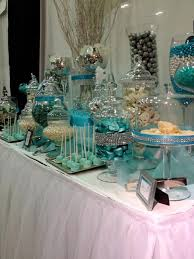 Tiffany Blue Candy Buffet by Blue And White Candy Buffet Tables Blue Silver And White