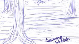 swamp sketch by hitsku on deviantart