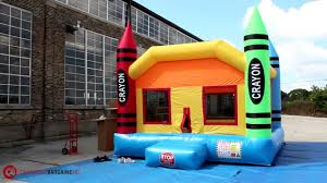 commercial grade inflatable bounce house setup time lapse