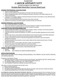 Soccer Coach Resume Samples by Beautiful Lacrosse Coach Resume Ideas Best Resume Examples For