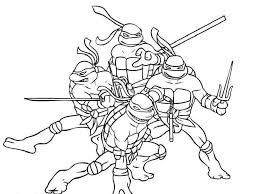 of ninja turtles coloring page free download