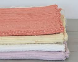 Pink And White Striped Rug Rag Rug Etsy
