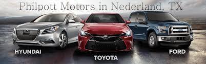 Used Cars In Port Arthur Tx Philpott Motors New Ford Toyota Hyundai Dealership In