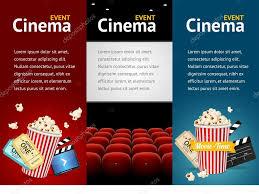 realistic cinema movie poster template vector u2014 stock vector