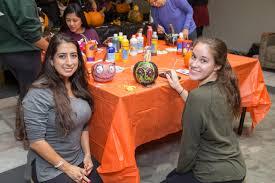 college halloween parties students carve into halloween season brookdale community college