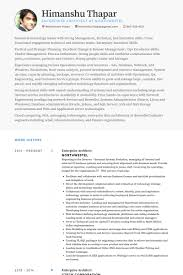 Technical Architect Sample Resume by Enterprise Architect Resume Samples Visualcv Resume Samples Database