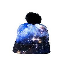 blue galaxy beanie hat shelfies