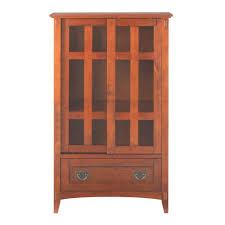 Sauder Premier 5 Shelf Composite Wood Bookcase by Sauder Home Plus Dakota Oak Storage Cabinet 411591 The Home Depot