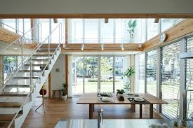Metal White Stair For Modern Japanese Interior Design Ideas With - Modern japanese home design