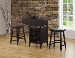 coaster fine furniture 150100 3 piece counter height drop leaf pub