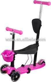 siege bebe scooter 3 roue bébé scooter jouet avec confortable siège 3 en 1 tour sur le