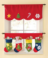 Holiday Christmas Window Decorations by