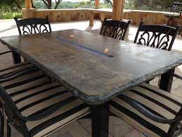 concrete top outdoor table awesome diy concrete patio table stunning led concrete patio table