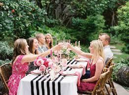 Backyard Gold Backyard Pink Black Gold Dinner Party In Medina Wa Finch And