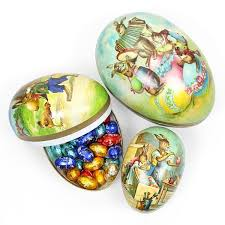 large paper mache egg vintage papier mache easter egg container pipii