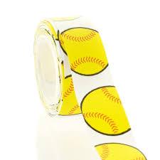 softball ribbon 7 8 yellow softball grosgrain ribbon