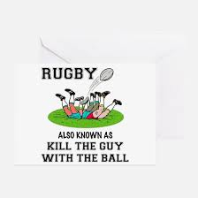 funny rugby greeting cards cafepress