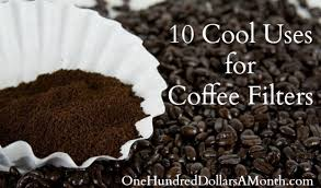 coffee filter uses 10 cool uses for coffee filters one hundred dollars a month