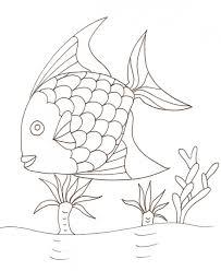 coloriages des poissons tête à modeler