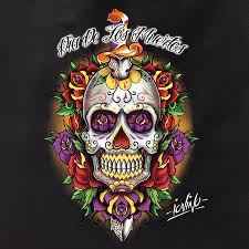 dia de los muertos sugar skulls iovino tattoo dia de los muertos sugar skull tote bag tote bags