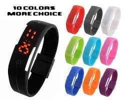 bracelet watches led images Led watches led flat belt watch wholesale supplier from surat jpg
