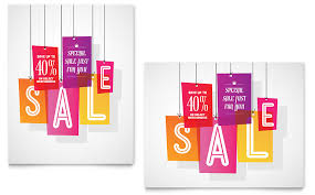 s day clearance clearance tag sale poster template word publisher