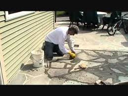 How To Make A Flagstone Patio With Sand How I Install A Stone Patio With Cement Part 1 Of 4 Mike Haduck