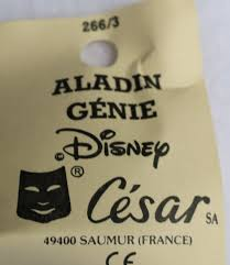 vintage walt disney aladdin genie halloween mask rare cesar