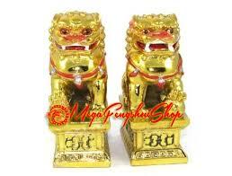 gold foo dogs golden feng shui foo dogs