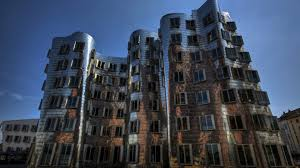 modern frank gehry dancing house dusseldorf germany architecture