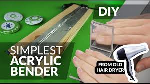 diy simplest acrylic bender plexi bend made from old hair dryer