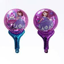 cartoon sofia princess hand holder stick mylar balloon fct