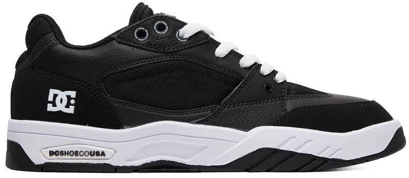 DC Maswell ADYS100473 Black Leather & Mesh Athletic Skate Shoes