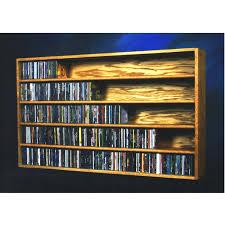Oak Cd Storage Cabinet Wood Shed Solid Oak Wall Or Shelf Mount Cd Rack 590 Capacity