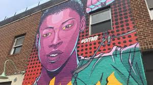 orange is the new black mural in greenpoint lets poussey live on nyc based street artist mast will unveil his