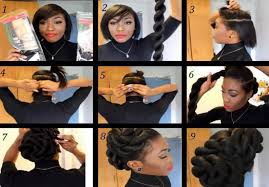 Transitioning Protective Styles - 5 easy hair pictorials for transitioning and natural hair