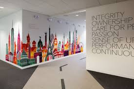 tech wall art printed wall graphics for office branding https www