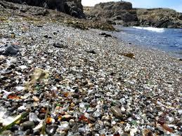 beach of glass gravel beach glass beach