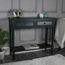 Green Console Table Green 2 Drawer Console Table Verde Range Melody Maison