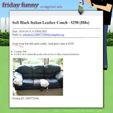 Craigslist Furniture Okc by Funny Craigslist Ads Leather Couch U0027some Wear U0027 Craigslist