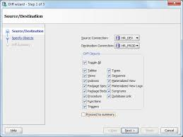 sql compare two tables comparing two oracle database schemas is simple now